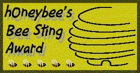 HoneyBee's Bee Sting Award