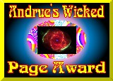 Andrue's Wicked Page Award