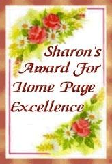 Sharon's award for home page excellence